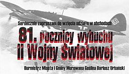 Obchody 81 rocznicy wybuchu II Wojny Światowej