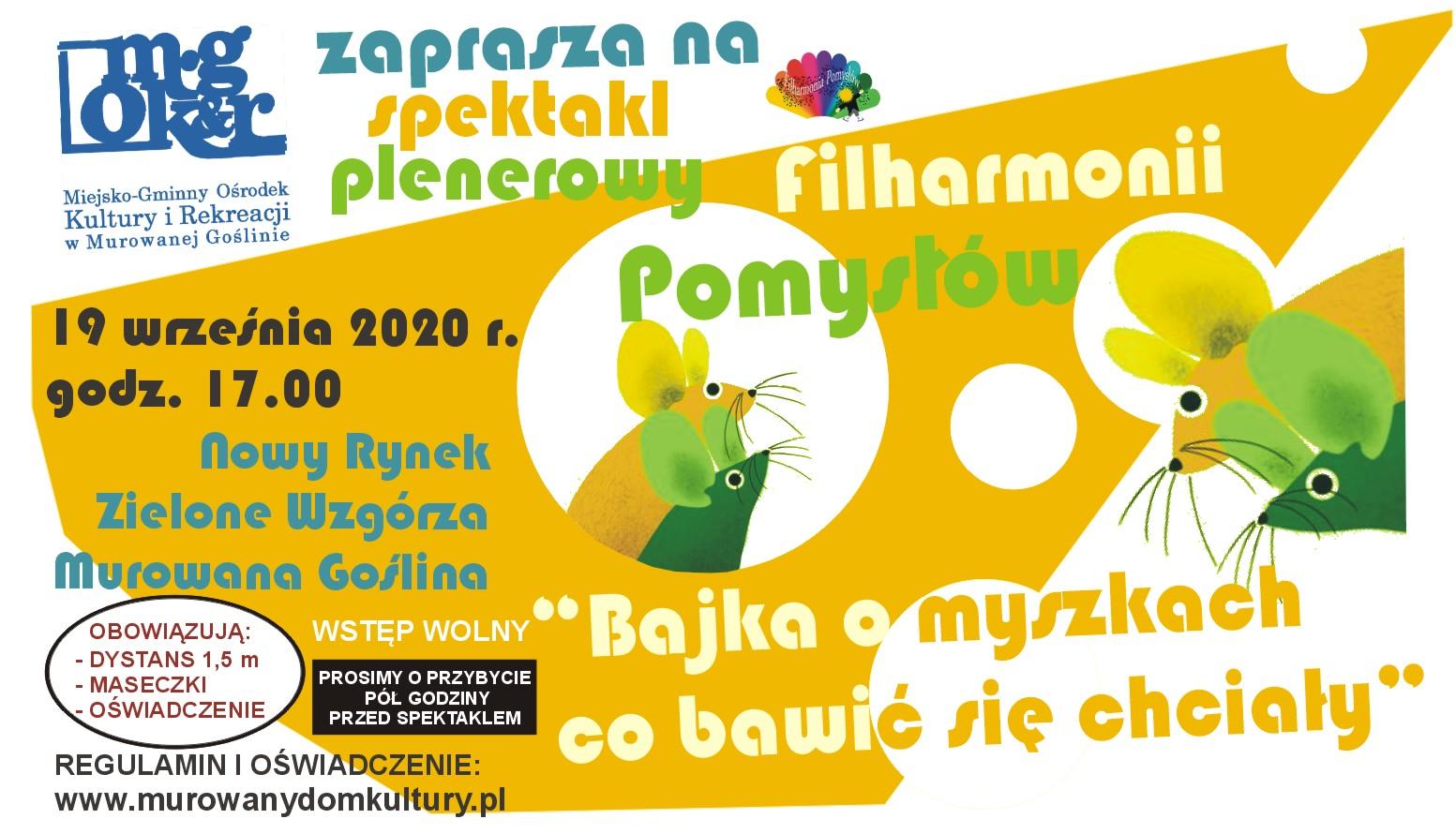 Spektakl plenerowy Filharmonii Pomysłów
