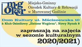 Zajęcia w sezonie kulturalnym 2020/2021