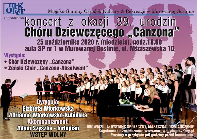 Plakat Canzona koncert