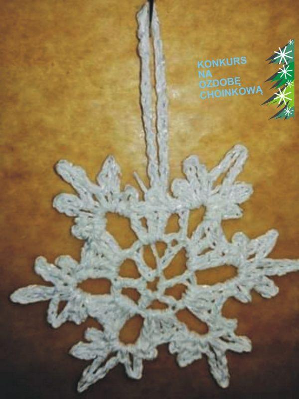 szydełkowy płatek śniegu