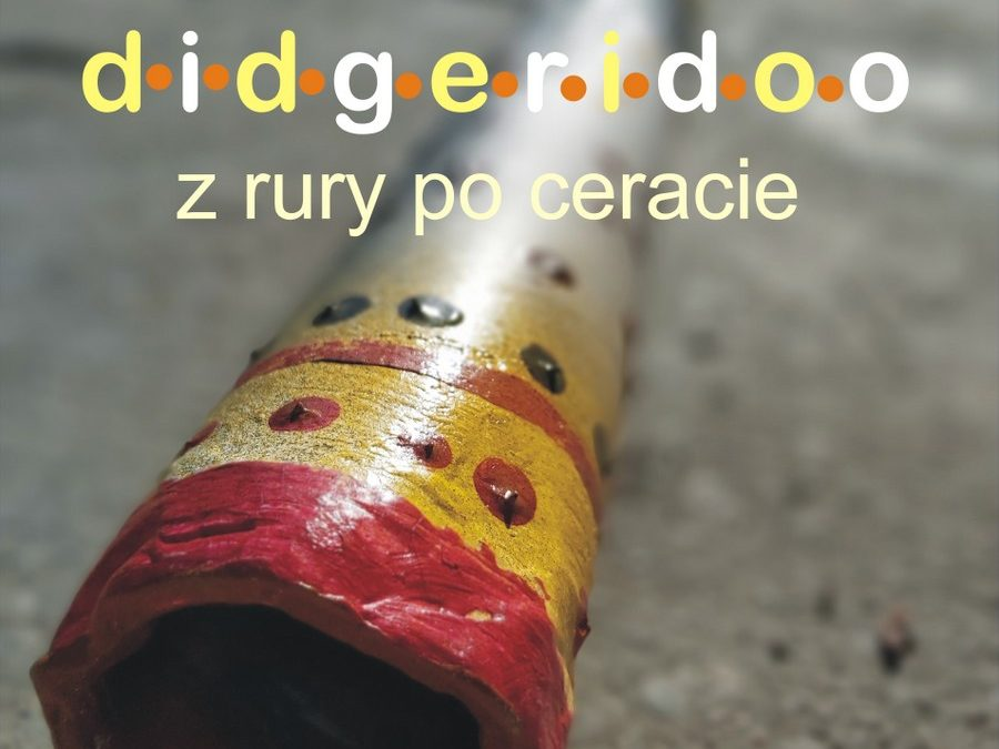 Zbliżenie na otwór rury didgeridoo