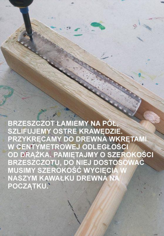 Śrubokręt przykręca do drewna brzeszczot
