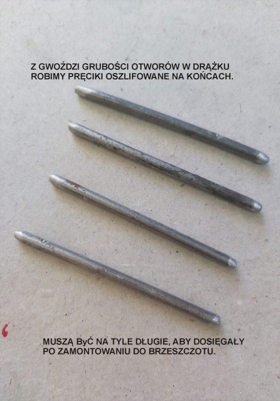 Pręciki metalowe z gwoździ