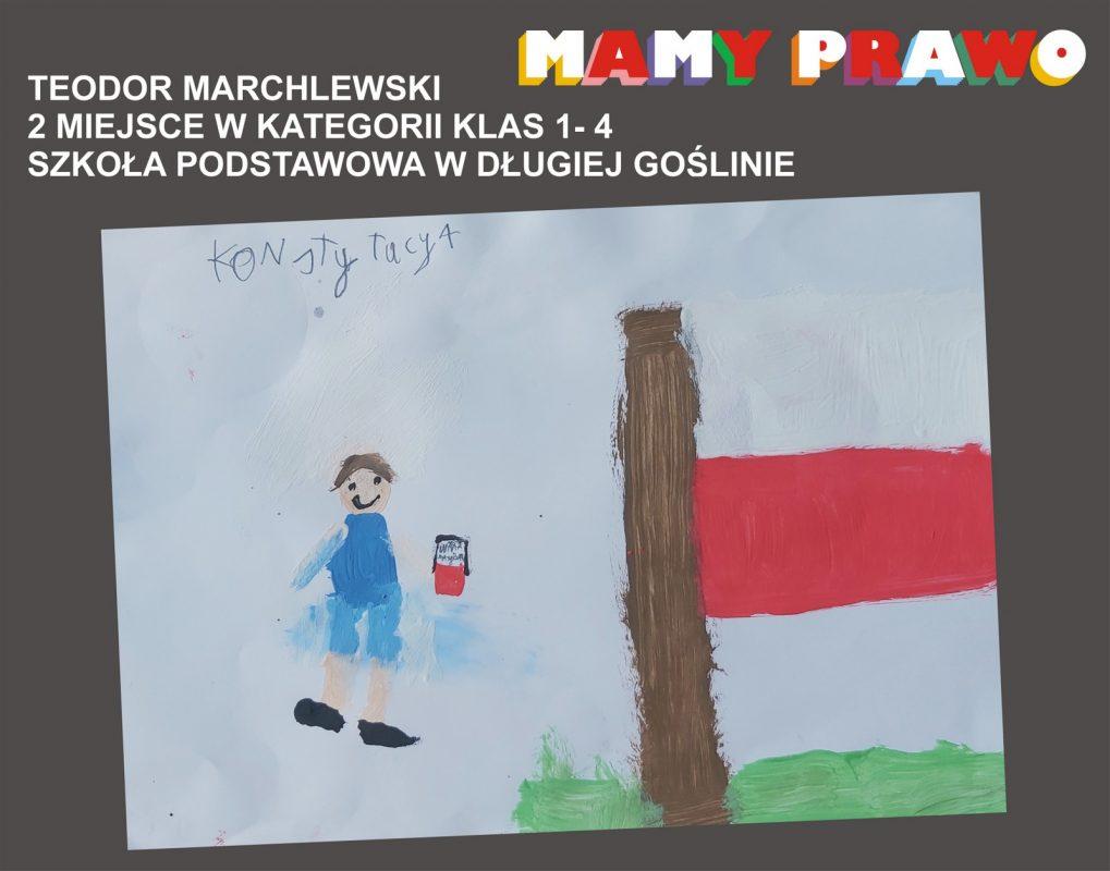 Teodor Marchlewski 2 miejsce w kategorii klas 1 – 4 Szkoła Podstawowa w Długiej Goślinie