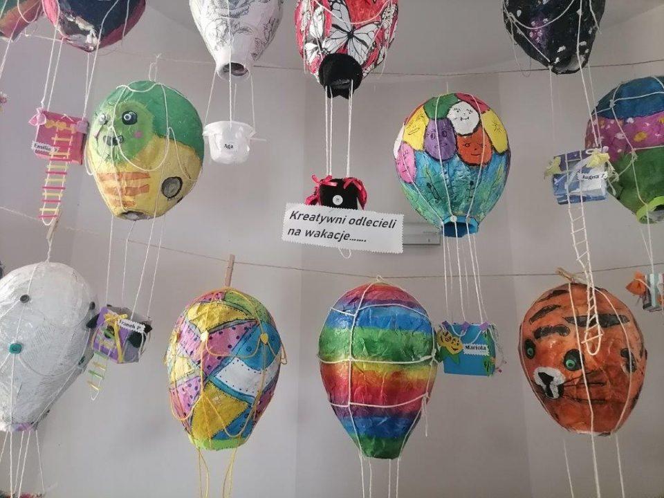 Papierowe, barwne balony